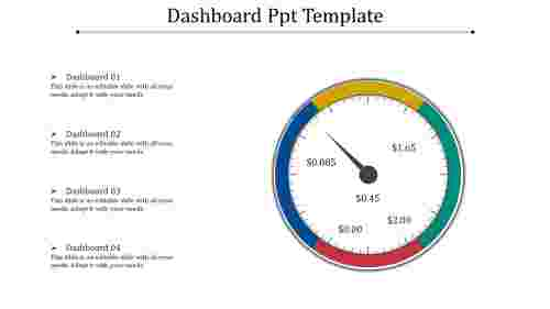 A four noded dashboard PPT template